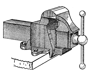 Woodworking bench vise drawings with dimensions PDF Free Download